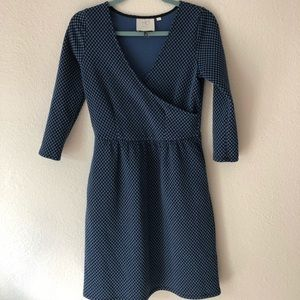 Anthropologie Textured Wrap Dress XS